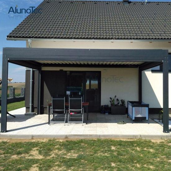 Opening Aluminium Pergola Electric Sunshade Roof
