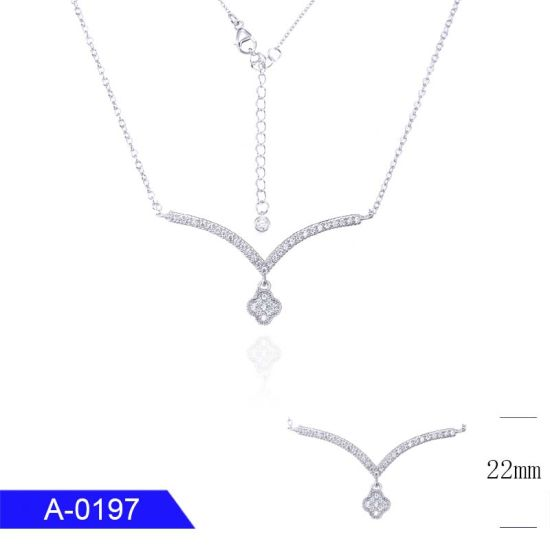Factory Wholesale New Fashion Jewelry 925 Sterling Silver or Brass Cubic Zirconia Chain Necklace pictures & photos