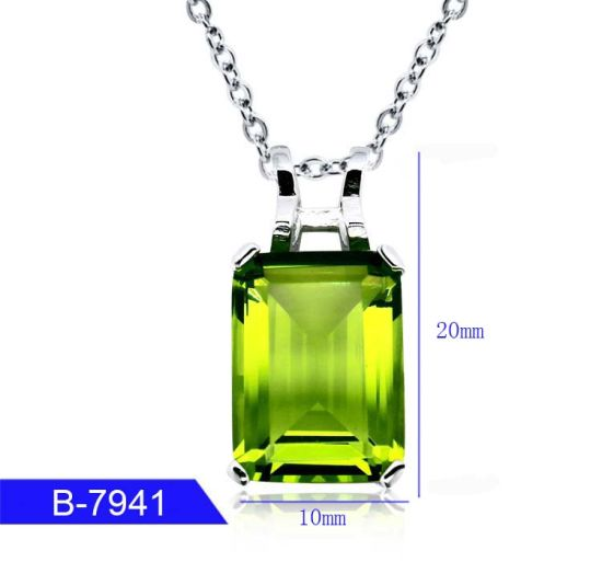 New Model Women′s Fashion Jewelry 925 Sterling Silver Cubic Zirconia Pendant Necklace pictures & photos