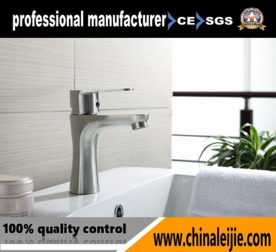 Basin Faucet Deck Mounted 304 Stainless Steel Sink Faucet pictures & photos