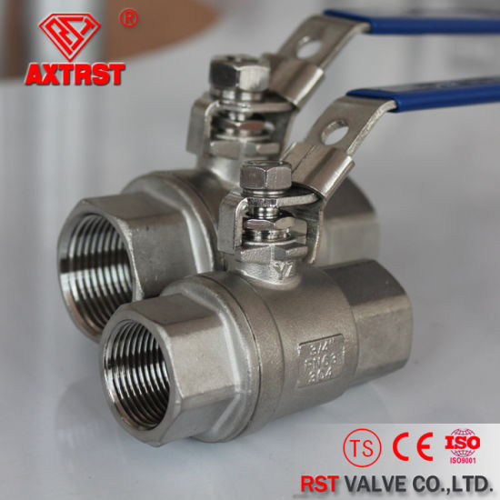 Stainless Steel Pn63 Threaded 2PC Ball Valve of China Manufacturer pictures & photos