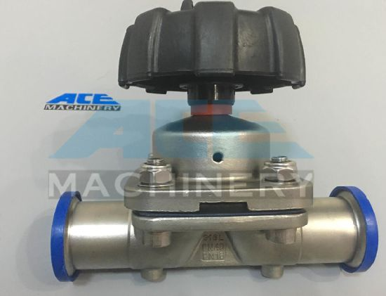 High Quality Manual Sanitary Stainless Steel SS316L Clamped Diaphragm Tank Bottom Valve pictures & photos