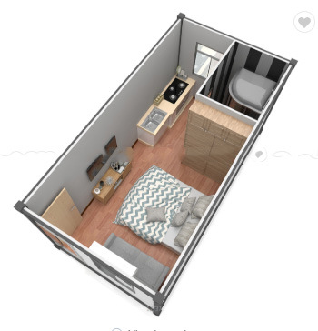 Low Price Portable 20FT Prefab Expandable Tiny Container House (Bathroom, kitchen) Prefab House pictures & photos