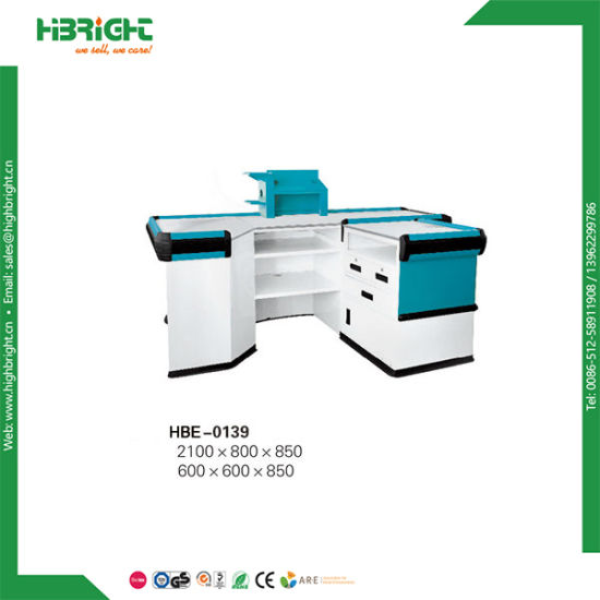 Retail Cash Counter with Conveyor Belt pictures & photos