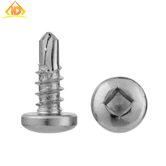 St3.9 SS304 Square Drive Button Head Self Drilling Screw pictures & photos