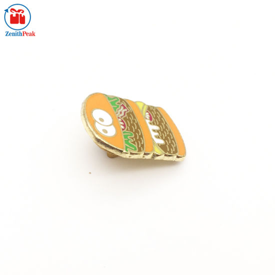 Hard Enamel Hamburger Food Lapel Pin Badge pictures & photos