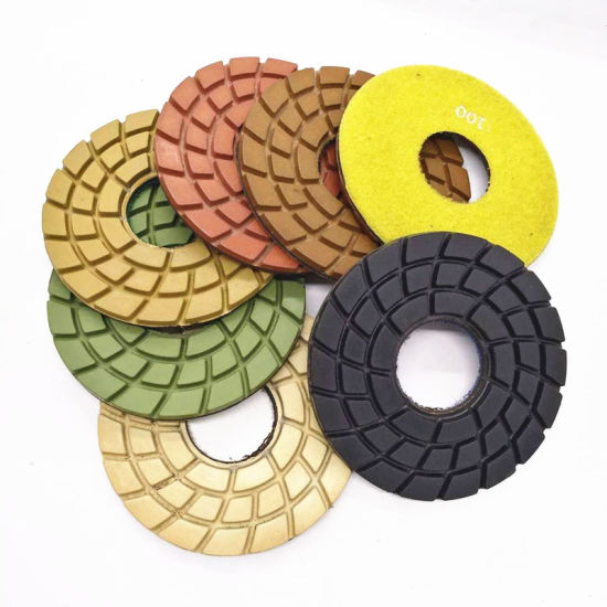 6inch Resin Polishing Pad for Concrete Floor with Velcro Backing pictures & photos