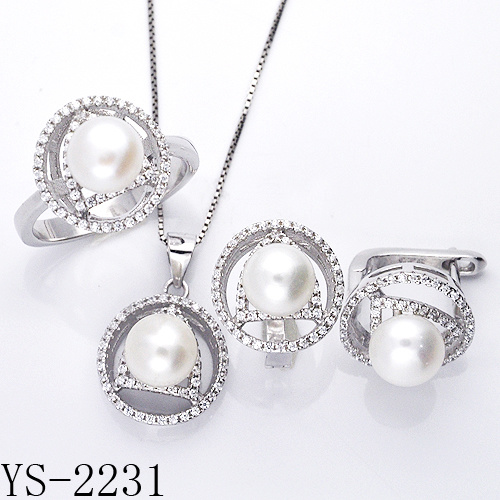 Factory Wholesale 925 Sterling Silver Imitation Pearl Jewelry Set for Women pictures & photos