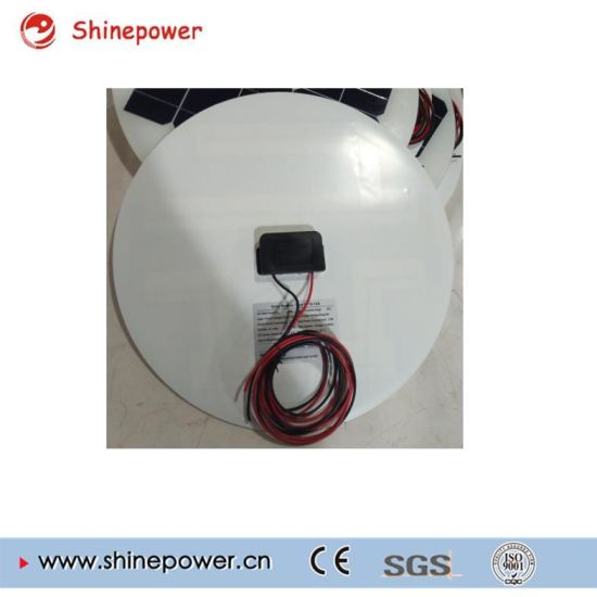 Round 60W 18V Glass Solar Panel for Solar Street Light. pictures & photos