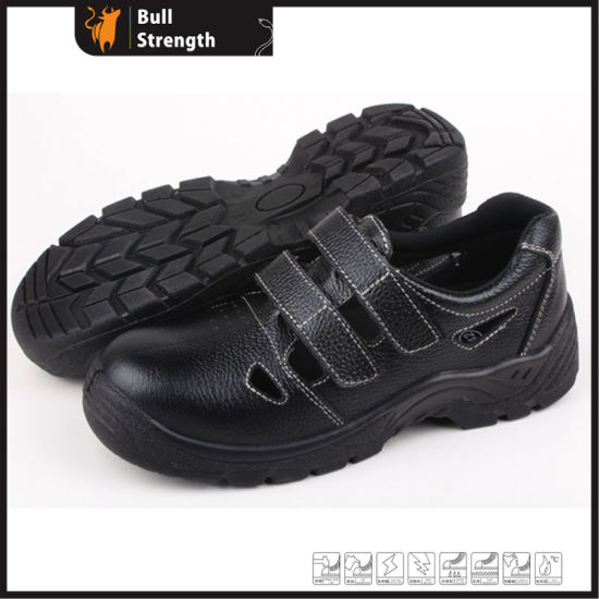 Sanneng Shoes Geniune Leather Safety Sandal Shoes with Steel Toe Cap (SN5273) pictures & photos