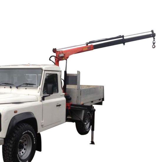 Mini 800kg Hydraulic Mobile 12V Electric Winch Pickup Truck Crane pictures & photos