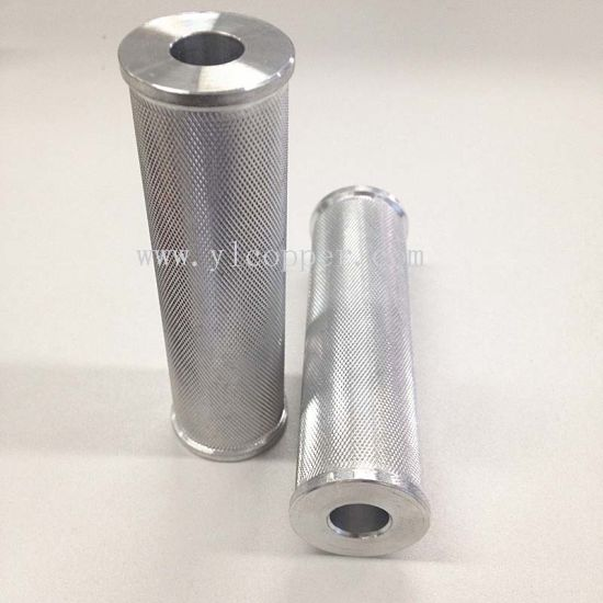 Customized Aluminum Parts with Knurling pictures & photos