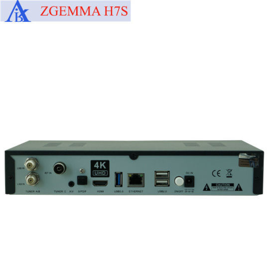 Zgemma H7s 4K Satellite Receiver with 2*DVB-S2X + DVB-T2/C Multistream Tuners pictures & photos