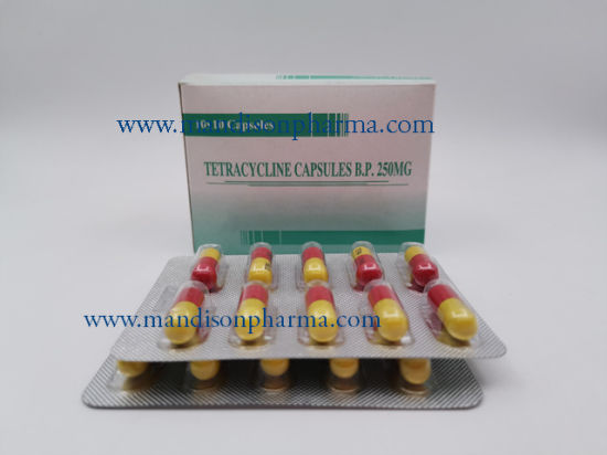 Tetracycline 250mg Capsule GMP Western Medicine pictures & photos