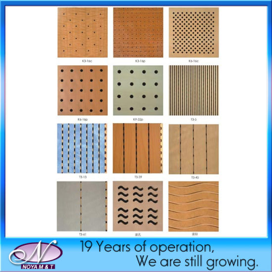 China Acoustic Soundproofing Wooden Board Panel For