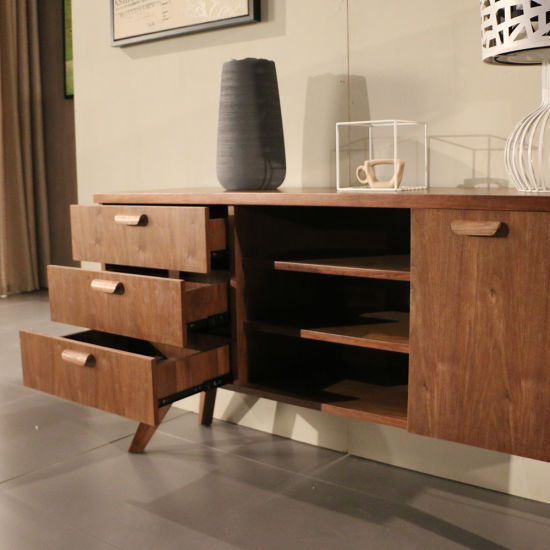 Nordic MDF with Veneer Home Furniture Wooden Console Made in China pictures & photos