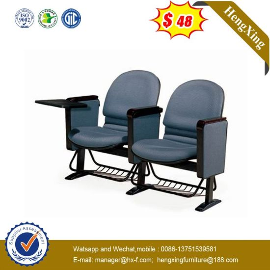 Auditorium Chairs Hall Waiting Chairs Conference Training Chair with Basket pictures & photos