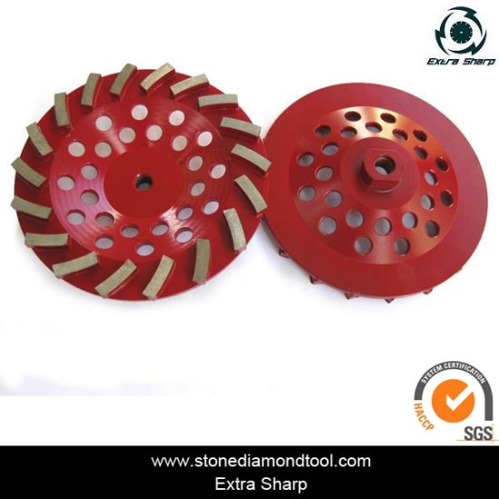 Turbo Wave Cup Grinding Wheel with Thread pictures & photos