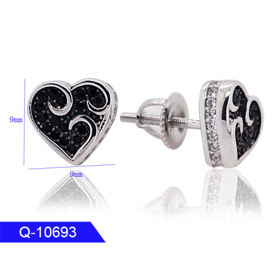 Wholesale New Model Fashion High End Iced out Jewelry 925 Sterling Silver CZ Stone Earrings for Man pictures & photos
