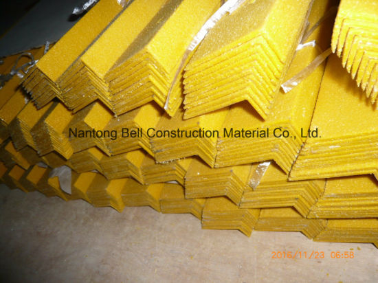 FRP/GRP Anti-Slip Stair Nosing, Fiberglass Stair Tread Cover, Stair Nosing. pictures & photos