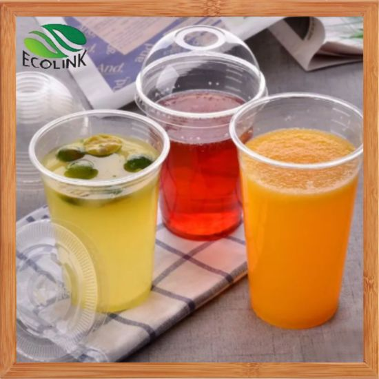 Biodegradable Transparent Disposable PLA Cup Cold with Lid pictures & photos