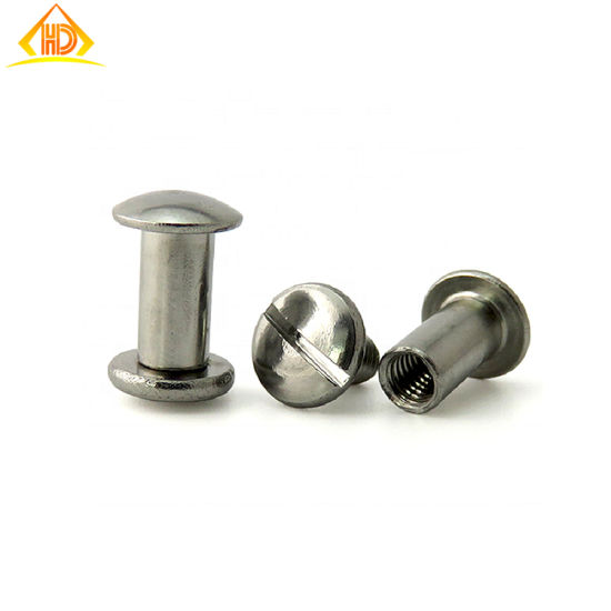 Ss 304/410 Slot Head Binding Post Screw pictures & photos