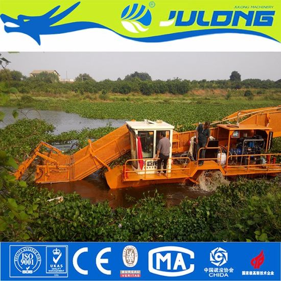 High Efficiency Low Price Aquatic Weed Harvester/Water Hyacinth Harvester for Sale pictures & photos
