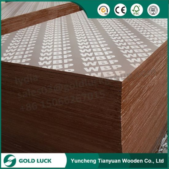 Film Faced Black and Brown Waterproof Shuttering Formwork Plywood pictures & photos