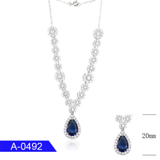 Wholesale Fashion Jewelry 925 Sterling Silver Cubic Zirconia Pendant Necklace for Sale pictures & photos