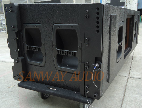 Aero 50 Dual 15′′ Three Way Line Array, 18mm Plywood Speaker pictures & photos