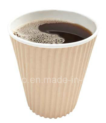 Ripple Wall Paper Cup for Hot Coffee Paper Cup 8oz pictures & photos