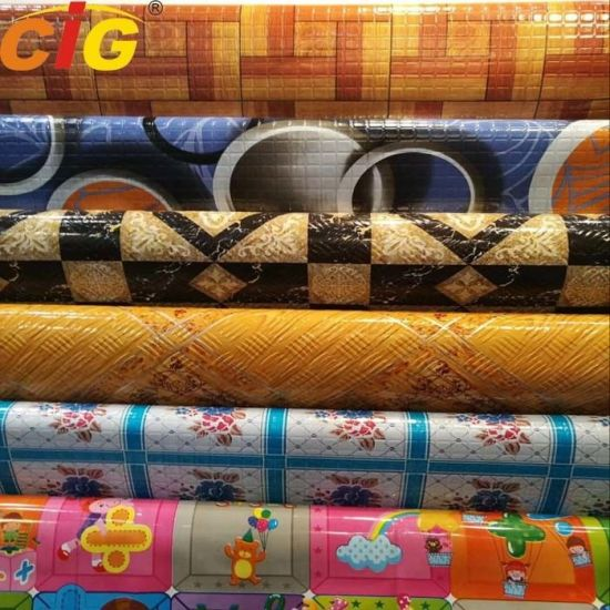 Multi Color 0.35 - 1.2mm Thickness Printing Waterproof Vinyl PVC Flooring pictures & photos