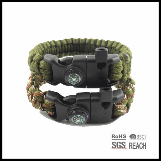Wholesale 550 Paracord Survival Bracelet with Compass pictures & photos