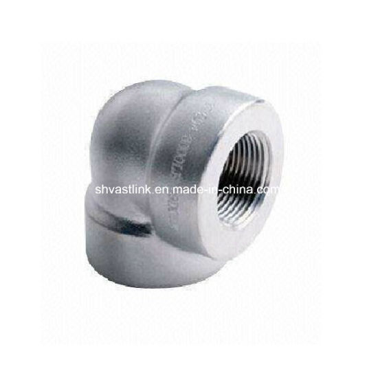 90 Degree Stainless Steel Threaded Pipe Elbow for Pipe Joint pictures & photos