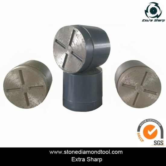 Single Round Segment Diamond Grinding Plug for Concrete/Terrazzo/Floor pictures & photos