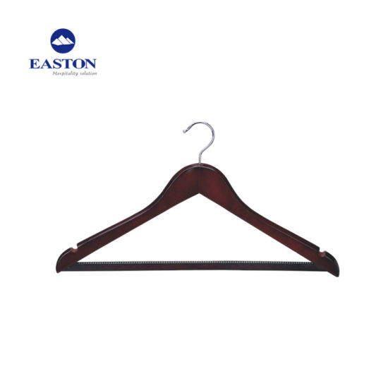 Hotel Male Wooden Hanger with Anti-Slip Rubber Teeth pictures & photos