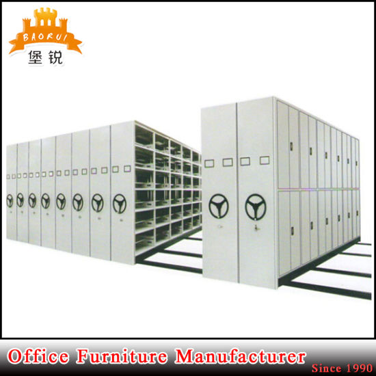Jas-070 Manual Mobile File Shelving Movable Compact Filing Shelves/Bookshelf pictures & photos