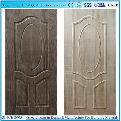 Moulded Deep 10mm Plywood Door Skin with Wood Veneer pictures & photos