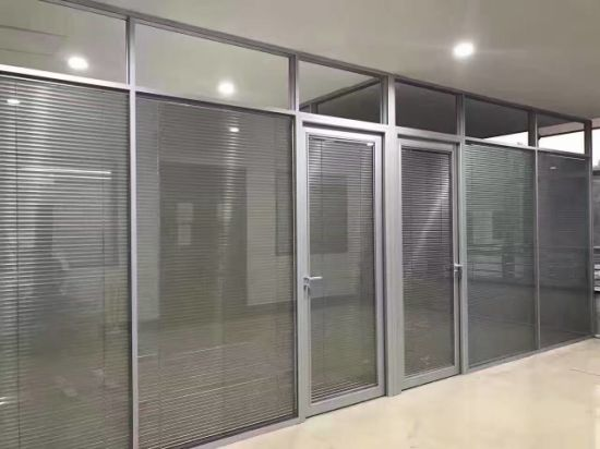 China Blind Office Partitioning System Glass Walls Partitions for ...
