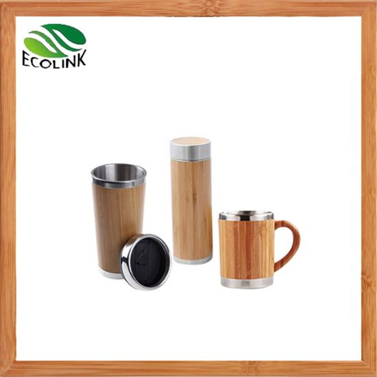 Bamboo Travel Mug Bamboo Cup with Stainless Steel Inner pictures & photos