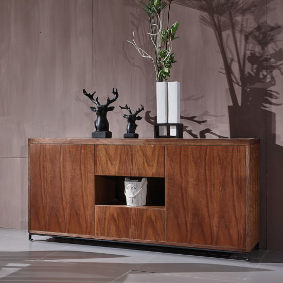 Living Room Furniture Modern Wood Side Cabinet Straight Edge pictures & photos