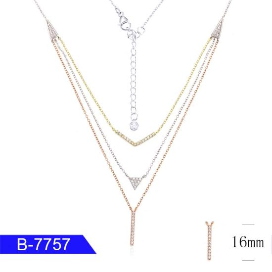 Unique Custom Fashion Jewelry 925 Sterling Silver Cubic Zirconia Necklace for Women pictures & photos