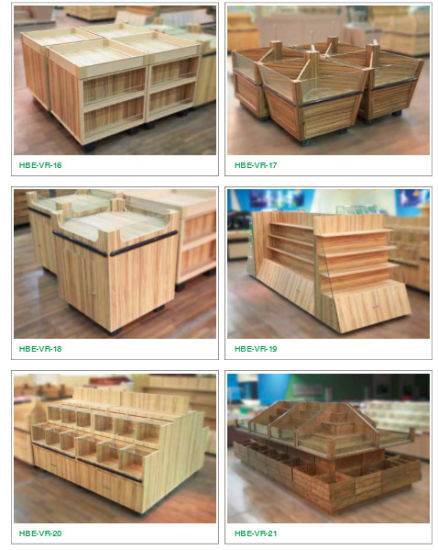 Supermarket Wooden Dry Fruit Vegetable Rack pictures & photos