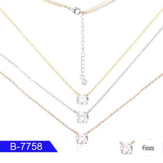 New Design Unique Fashion Jewelry Sterling Silver CZ Pendant Necklace for Sale pictures & photos