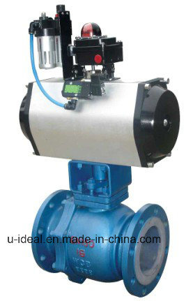 Pneumatic Actuated Ball Valve O Type Shut-off Ball Valve pictures & photos