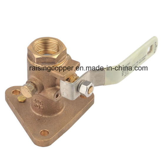 Full Port Bronze Ball Valve with Flange pictures & photos