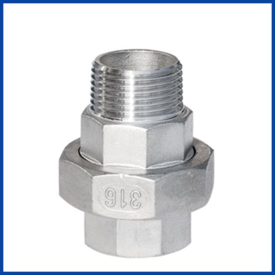 150lb Stainless Steel 304/316 Screwed Union M/F with ISO4144 & En10241 Type pictures & photos