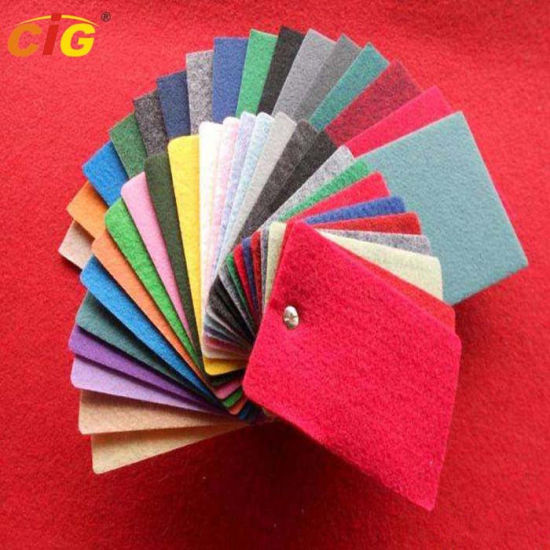Eco Friendly Exhibition Velour Carpet Cloth for Hotel or Car Upholstery pictures & photos