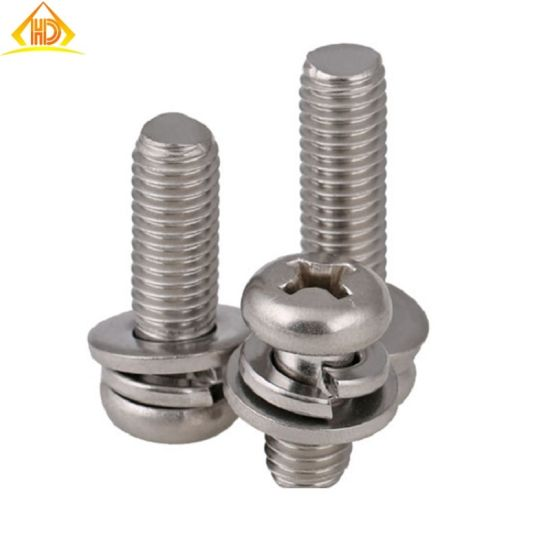 Stainless Steel Phillips Pan Head Machine Screw with Washer pictures & photos