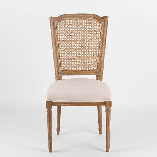 Kvj-7151 Antique Vintage Traditional Fabric Rattan Wooden Dining Chair pictures & photos